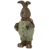 Bunny With Egg Basket & Flower