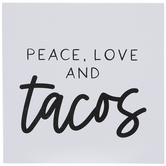 Peace Love & Tacos Wood Wall Decor