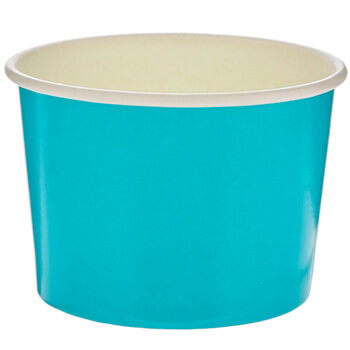 Bright Blue Paper Snack Cups