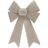 Woven Champagne Glitter Bow