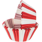 Red & White Striped Baking Cups
