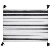 Black & White Striped Placemat