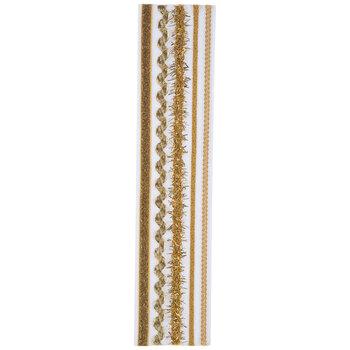 Gold Trim & Ribbon Border Stickers