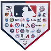 MLB Teams Base Canvas Wall Decor