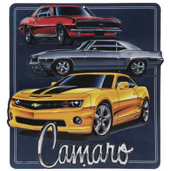 Camaro Parts and Service Red and Black Classic Car Tin Sign