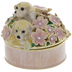 Puppies In Flowers Jewelry Box