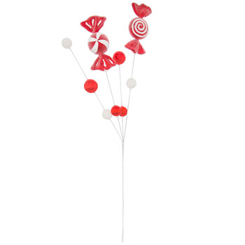 Candy Cane Swirl Pick