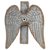 Gray Angel Wings Clothespin