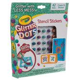 Crayola Glitter Dots Stencil Stickers Kit