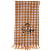 Orange & White Plaid Grateful Kitchen Towel