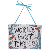 World's Best Teacher Metal Wall Decor