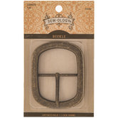 """Antique Gold Rectangle Buckle - 1 1/2"""""""