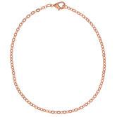 """Flat Oval Chain Bracelet - 7 1/2"""""""