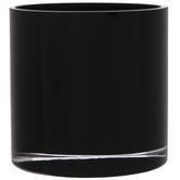 Black Round Glass Vase