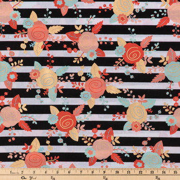 Mint & Blush Piper Floral Apparel Fabric