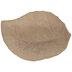 Paper Mache Leaf Tray