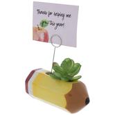 Pencil & Succulent Photo Clip