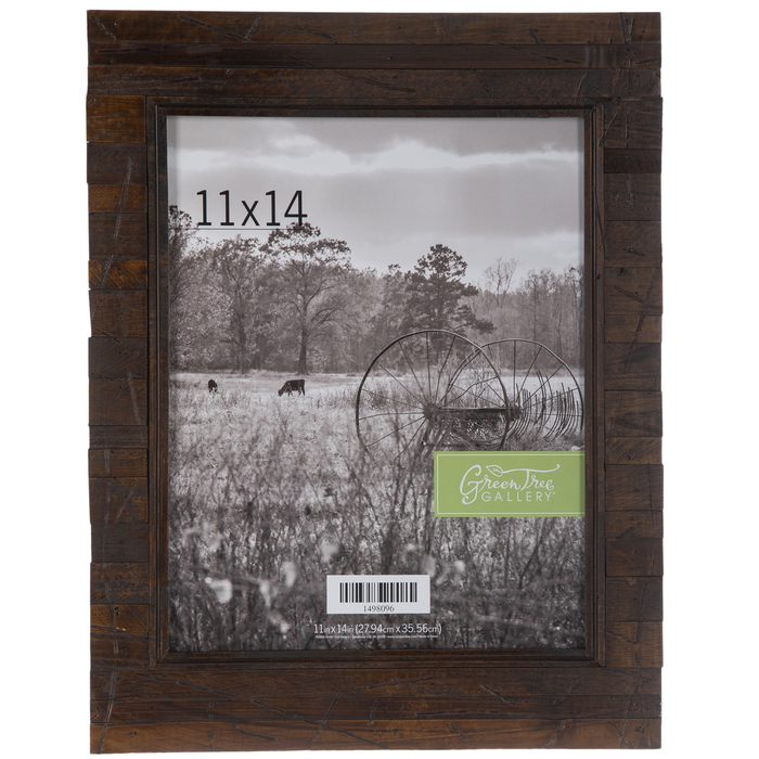 New All Sizes Picture Frame in Green Rustic Style Wooden Forli 3,7