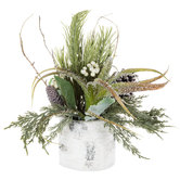 Snowy Pine Arrangement
