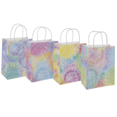Bright Tie Dye Craft Gift Bags