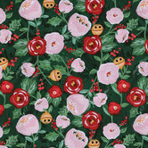 Peonies & Bells Cotton Fabric