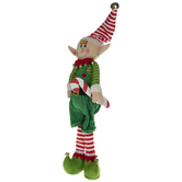 Standing Elf With Candy Cane