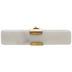 White Rectangle Marble Knob