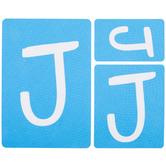 Fun Font Monogram Adhesive Stencils - J