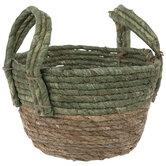 Green & Natural Round Basket