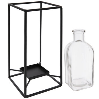 Glass Vase With Black Frame