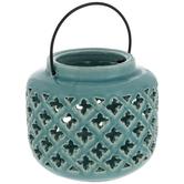 Blue Cutout Lantern