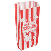 Red & White Striped Popcorn Bags