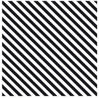 "Black & White Diagonal Striped Scrapbook Paper - 12"" x 12"""
