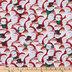 Leopard Print Santa & Snowmen Cotton Fabric