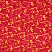 USC Allover Collegiate Cotton Fabric