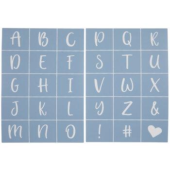Cheery O Alphabet Adhesive Stencils