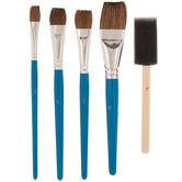 Basecoat Paint Brushes - 5 Piece Set
