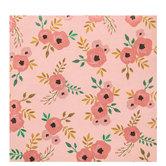 "Pink Simple Floral Clusters Scrapbook Paper - 12"" x 12"""