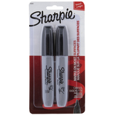 Black Chisel Point Sharpie Markers - 2 Piece Set