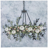 Floral Chandelier Canvas Wall Decor