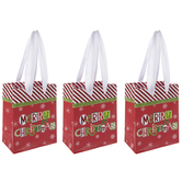 Glitter Merry Christmas Gift Bag