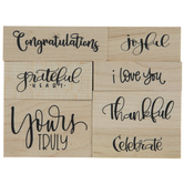 Grateful Heart Rubber Stamps
