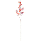 Peach Metallic Silver Dollar Stem