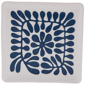 White & Blue Splats Square Tray