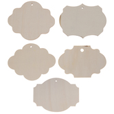 Quatrefoil Tags Wood Shapes