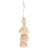 Natural Layered Cotton Tassel