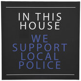 We Support Local Police Canvas Wall Decor