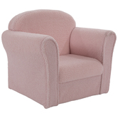 Plush Pink Child's Chair