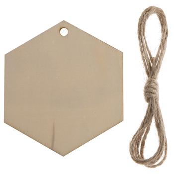 Hexagon Wood Craft Tags