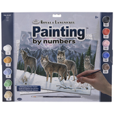 Wolves Paint By Number Kit